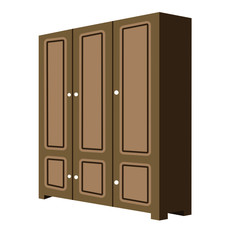 perspective 3D looks of cabinet wardrobe clothes press