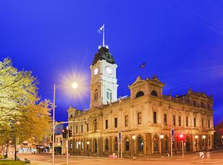 VIC Ballarat Town Hall corner rise