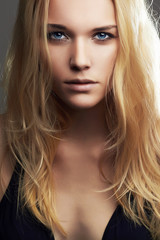 Young blond woman.Beautiful blonde Girl