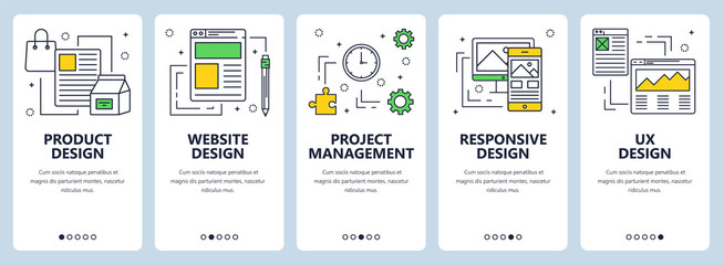 Vector modern thin line product design concept banners