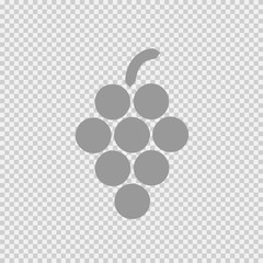 Grapes vector icon eps 10. Grape wine simple isolated pictogram.