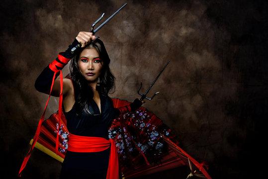 Asian Warrior Princess - with Sai