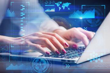 Future, innovation and analytics concept