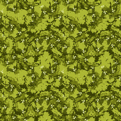 Bright forest camouflage of various shades of green