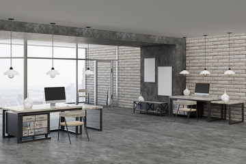 Contemporary interior with workplace