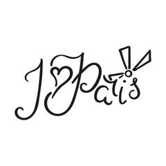 I love Paris lettering inc