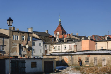 CITYSCAPE - Old town houses Darłowo from the back