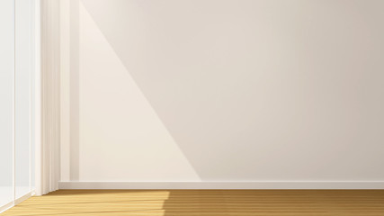 Empty room artwork room for rent or other room - Interior simple design - 3D Rendering