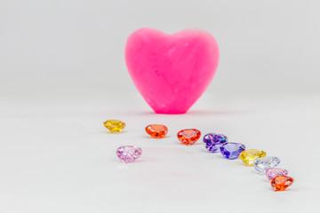 Wall Mural - diamond jewelry in heart shape