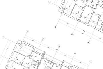 Obraz Architectural technical drawing- background - fototapety do salonu