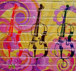 Graffiti. Violoncelles