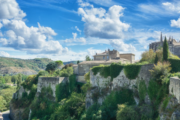 Impression of the village Viviers in the Ardeche region of France