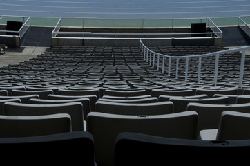Seating in a stadium