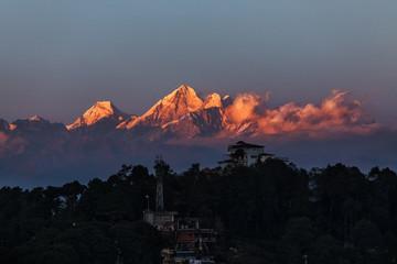 Poster Nepal Nagarkot, Nepal, View on the Himalayan Mountain Range