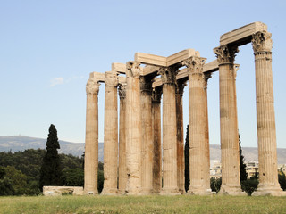 The Temple of Olympian Zeus at Athens, Greece