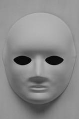 White Mask On White Background.