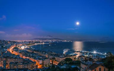 Garden Poster Napels Landscape of Napoli - Italy 2