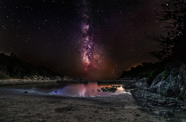 Fairytale - A long exposure of the milky way on a beach of Formia, South Italy.