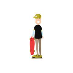 Street people vector flat illustration