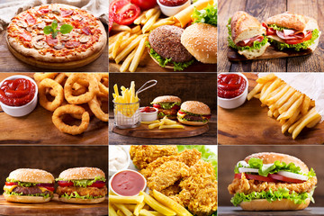 various fast food products