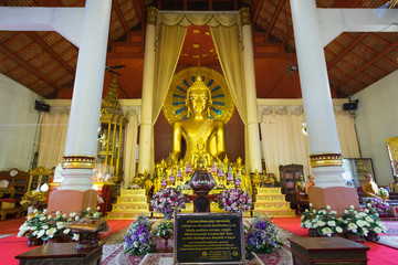 Chiangmai,Thailand-December 31,2017, People or tourist at Wat Phra Sing Waramahavihan, Chiangmai, Thailand.