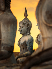 Fototapete - Buddha images architecture in Wat Thung Yai in Nakhon Si Thammart , Thailand.