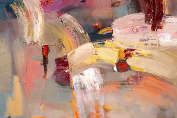 Abstract picture. Oil painting.