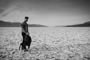 baroudeur dans le désert