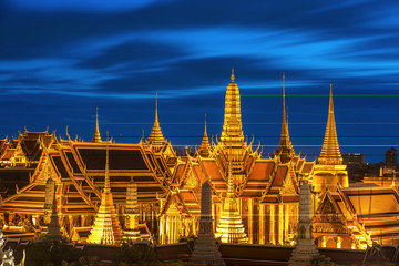 Wat Phra Kaew Ancient, temple of the Emerald Buddha in Bangkok, Thailand.