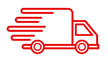 Fast shipping delivery truck, fast shipping service – vector for stock