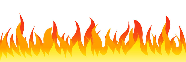 Fire on a white background. Vector illustration for design - for stock