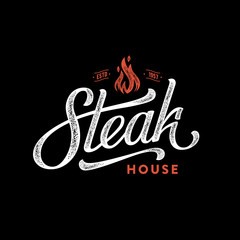 Steak house fire black