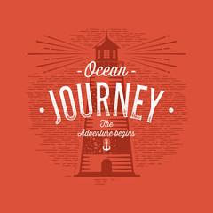 Ocean journey red
