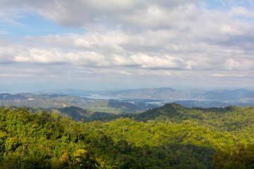 landscape hills and forest at kanchanaburi thailand