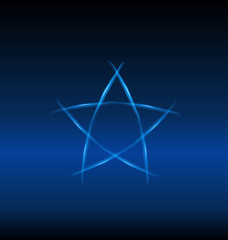 Blue star, background vector