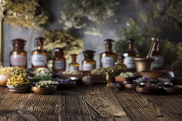 Natural medicine. Fototapete