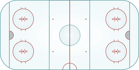 Ice hockey field. vector illustration