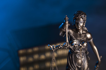 Lady justice, books