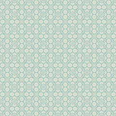 Floral seamless background in two colors