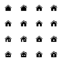 Set 1 of icons representing house Vector Illustration