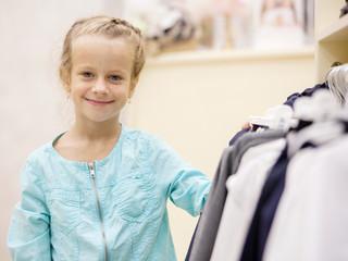 Child in a children's store