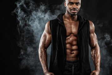 Muscular young fitness sports man. Fashion men's concept.