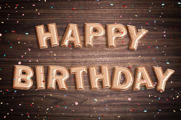 "Luftballons formen Glückwunsch ""Happy Birthday"""