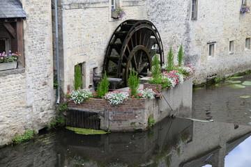 Aluminium Prints Mills Wassermühle in Bayeux, Normandie