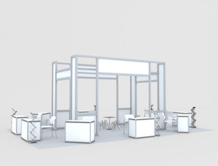 Blank exhibition stand..