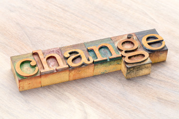 change word abstract in wood type