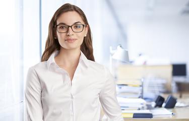 Confident young professional business woman portrait