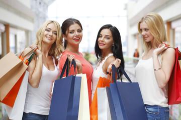 Women shopping in mall