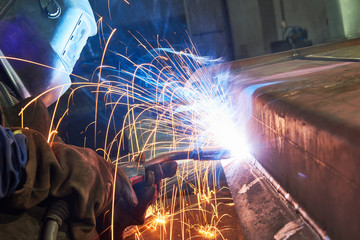 industrial arc welding work