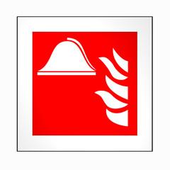 Brandschutzzeichen nach der aktuellen Form der ASR A1.3: Mittel und Geräte zur Brandbekämpfung. 2d render